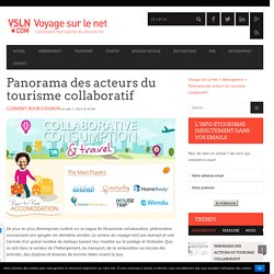 Économie collaborative et tourisme: panorama des acteurs
