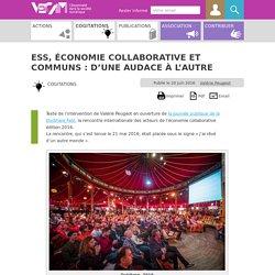 ESS, économie collaborative et communs : d'une audace à l'autre
