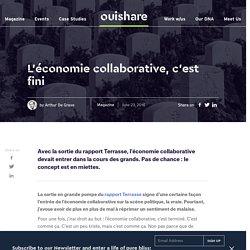 L'économie collaborative, c'est fini
