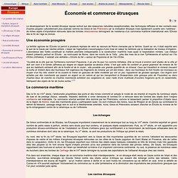 Économie et commerce étrusques