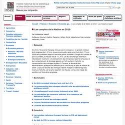 conomie - Les comptes de la Nation en 2010 - La croissance repart