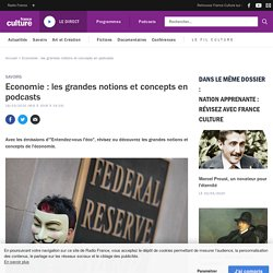 Economie : les grandes notions et concepts en podcasts
