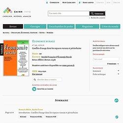 Revue Économie rurale 2012/6, Conflits d'usage dans les espaces ruraux et périurbains