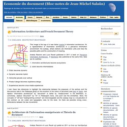 Economie du document (Bloc-notes de Jean-Michel Salaün)
