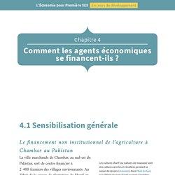 L'Économie pour Première SES: Chapitre 4 Comment les agents économiques se financent-ils?