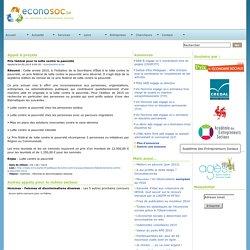 Economie sociale ~ Econosoc ~ Prix Fédéral pour la lutte contre la pauvreté