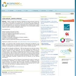 Economie sociale ~ Econosoc ~ Appel à projets - Objectifs du Millénaire - Loterie Nationale