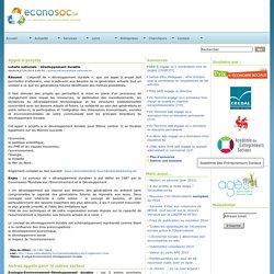 Economie sociale ~ Econosoc ~ Appel à projets - Loterie développement durable