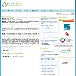 Economie sociale ~ Econosoc ~ Prix de l'innovation sociale