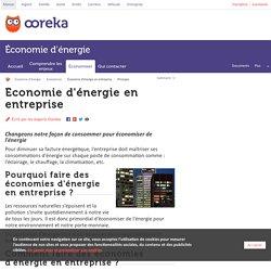 Economie d'énergie en entreprise - Ooreka