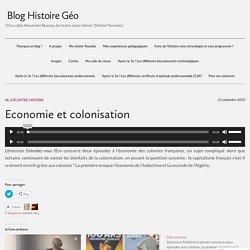 Economie et colonisation