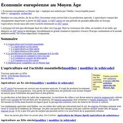 Économie européenne au Moyen Âge