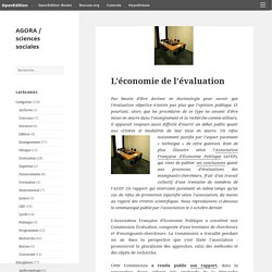 L'économie de l'évaluation