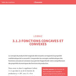 L'Économie: Leibniz : Fonctions concaves et convexes