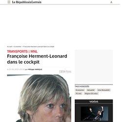 Françoise Herment-Leonard dans le cockpit