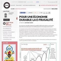 Pour une économie durable: la e-frugalité