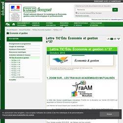 Lettre TIC'Édu Économie et gestion n°37 — ÉcoGest
