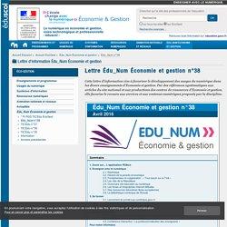 Lettre Édu_Num Économie et gestion n°38 — ÉcoGest