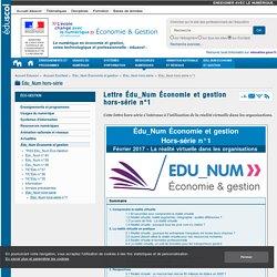 Lettre Édu_Num Économie et gestion hors-série n°1 — ÉcoGest