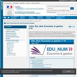 Lettre Édu_Num Économie et gestion n°41 — ÉcoGest