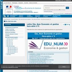 Lettre Édu_Num Économie et gestion hors-série n°3 — ÉcoGest