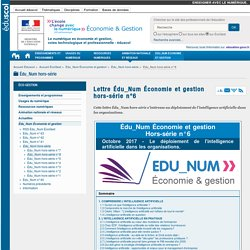 Lettre Édu_Num Économie et gestion hors-série n°6 — ÉcoGest