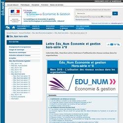 Lettre Édu_Num Économie et gestion hors-série n°8 — ÉcoGest