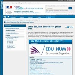 Lettre Édu_Num Économie et gestion n°44 — ÉcoGest