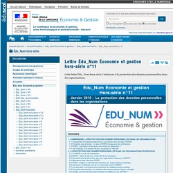 Lettre Édu_Num Économie et gestion hors-série n°11 — ÉcoGest
