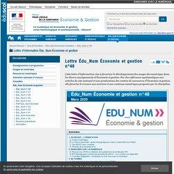 Lettre Édu_Num Économie et gestion n°48 — ÉcoGest