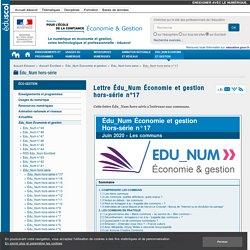 Lettre Édu_Num Économie et gestion hors-série n°17 — ÉcoGest