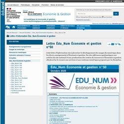 Lettre Édu_Num Économie et gestion n°50 — ÉcoGest