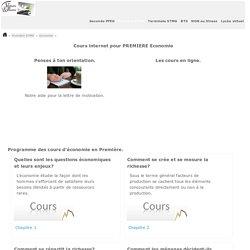 Economie COURS e-learning Première STMG.