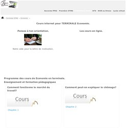 Economie COURS e-learning TERMINALE STMG.