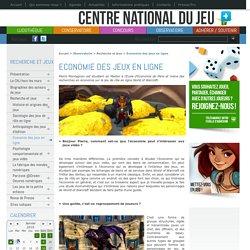 Economie des jeux en ligne - Centre National du Jeu