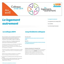 Amallia économie sociale : Le logement autrement - Colloque le 21 mai 2013 à Aix les Bains
