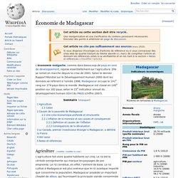 Économie de Madagascar