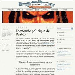 Economie politique de Diablo (Diablo III, Diablo II)