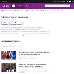 L'Économie en questions : podcast et réécoute sur France Culture