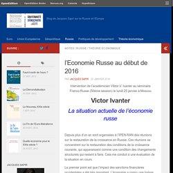 l'Economie Russe au début de 2016 – RussEurope