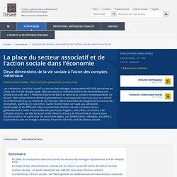 Économie - La place du secteur associatif et de l'action sociale dans l'économie