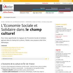 L'Economie Sociale et Solidaire dans le champ culturel