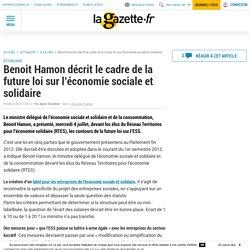 Benoit Hamon décrit le cadre de la future loi sur l'économie sociale et solidaire