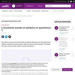 L'économie sociale et solidaire en question(s) ?