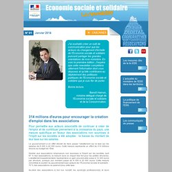 La Lettre Economie Sosiale et Solidaire - N° 01 - Janvier 2014