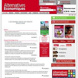 L'économie verte en trente questions n°061 Mars 2013