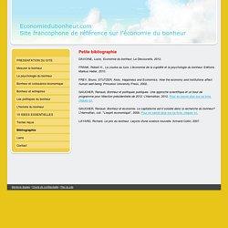 Bibliographie - Economiedubonheur.com, le site francophone de référence sur l'économie du bonheur.
