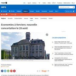 Economies à Verviers: nouvelle concertation le 28 août