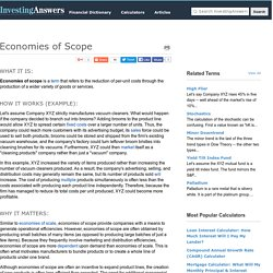 Economies of Scope Definition & Example