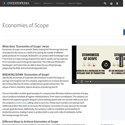 Economies of Scope Definition